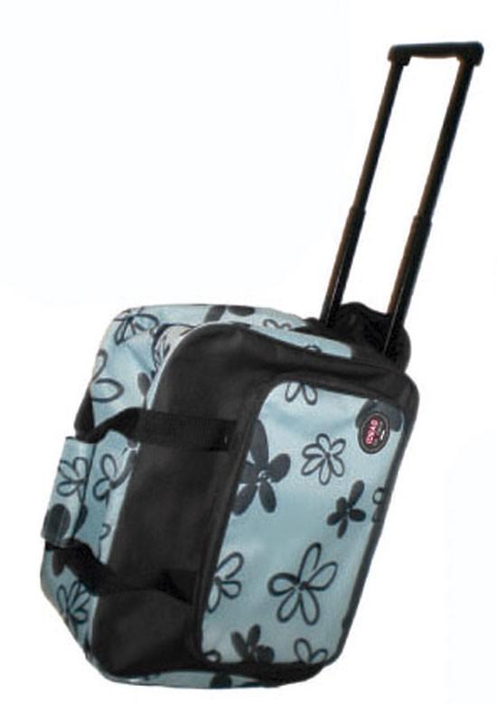 Maleta Trolley para máquina de coser azul/negra