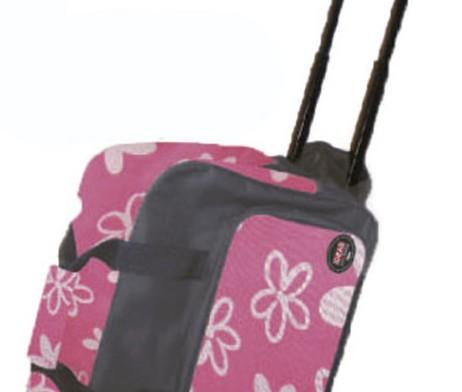 Maleta Trolley para máquina de coser rosa