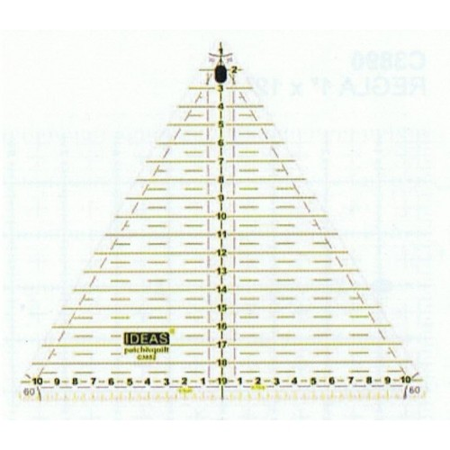 Regla 20 cm triangular 60º
